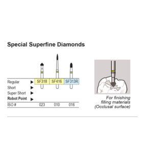 Shofu Diamond Burs FG - Special SuperFine #SF318