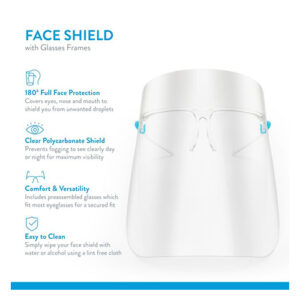 ZZ Face Shield with Glass Frame